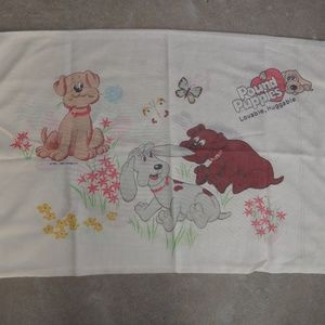 Vtg Pound Puppy Pillowcase